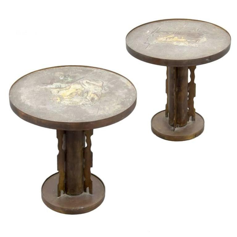 Rare Pair of Cocktail Tables by Philip and Kelvin Laverne