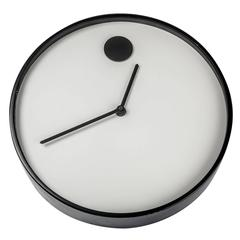 Wall Clock by George Horwitt for Howard Miller, Black & White, Metal and Glass