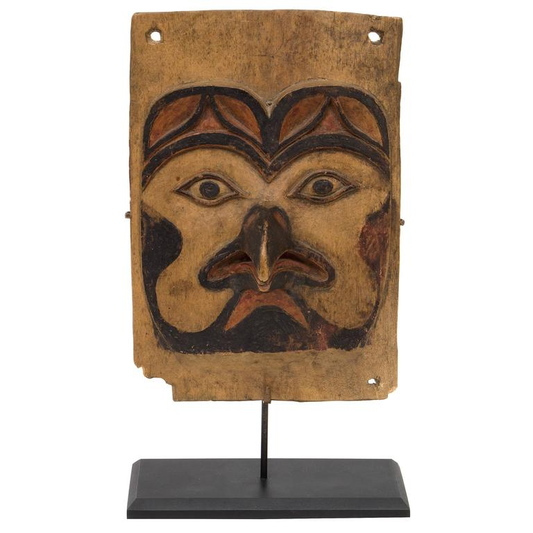 Antique Northwest Coast Carved Frontlet, Tlingit/Tsimshian, late 19th century 1
