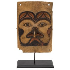 Antique Northwest Coast Carved Frontlet, Tlingit/Tsimshian, late 19th century