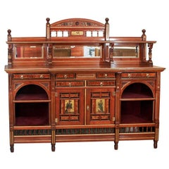Gillows of Lancaster walnut and thuya wood sideboard, England circa 1877