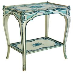Jansen Blue and White Side Table