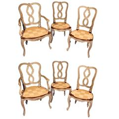 Set of Six Venetian Style Dining Chairs