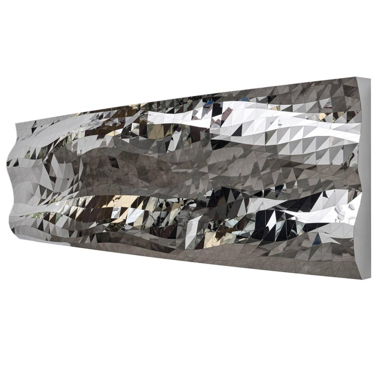 Mashing Mesh Object #MS-1 Stainless Steel Wall Mirror Decoration Sculpture For Sale