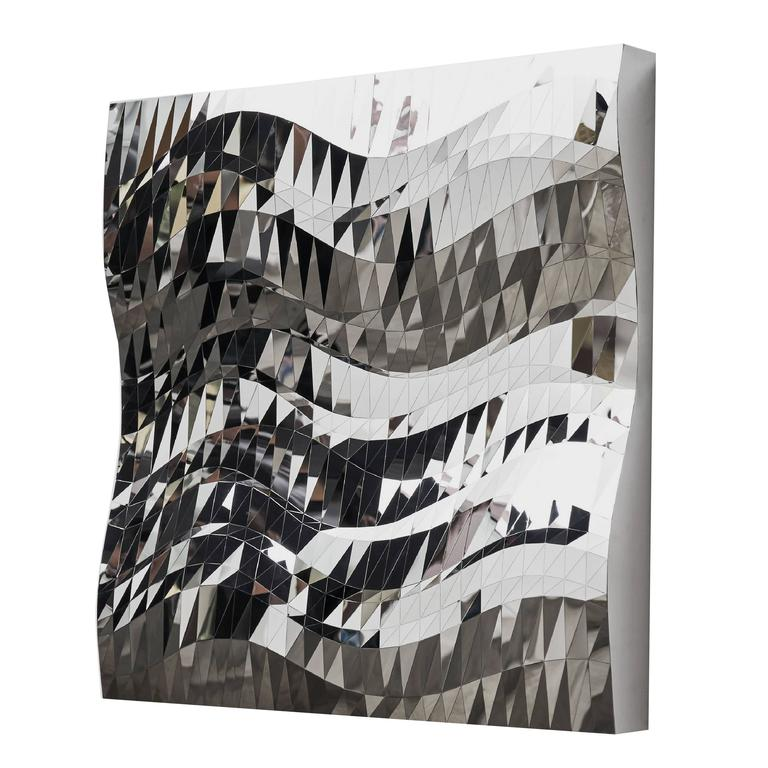 Mashing Mesh Object #MS-2 Stainless Steel Wall Mirror Decoration Sculpture
