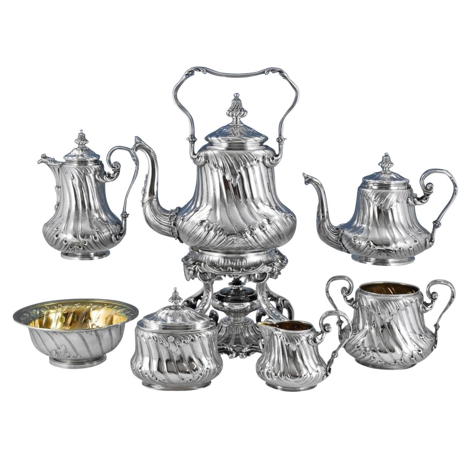 Odiot An Outstanding Silver Tea And Coffee Set For Sale