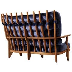 Guillerme et Chambron Sofa in Solid Oak