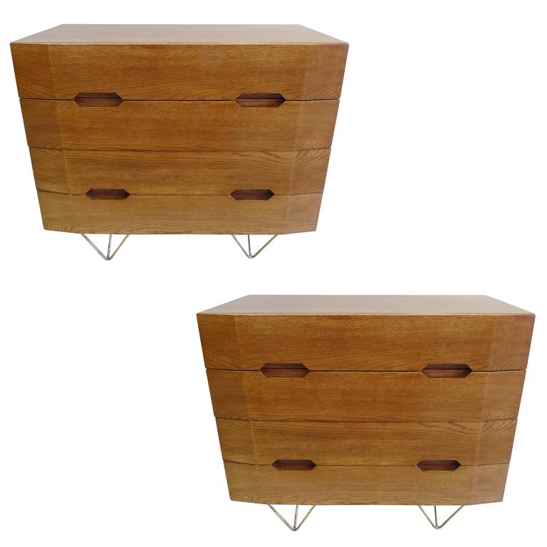 Two Important Italian Commodes or Chests of Drawers Circle of Gio Ponti 1