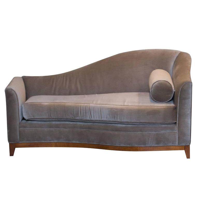 Chaise lounge in mohair at 1stdibs for Art deco chaise lounge
