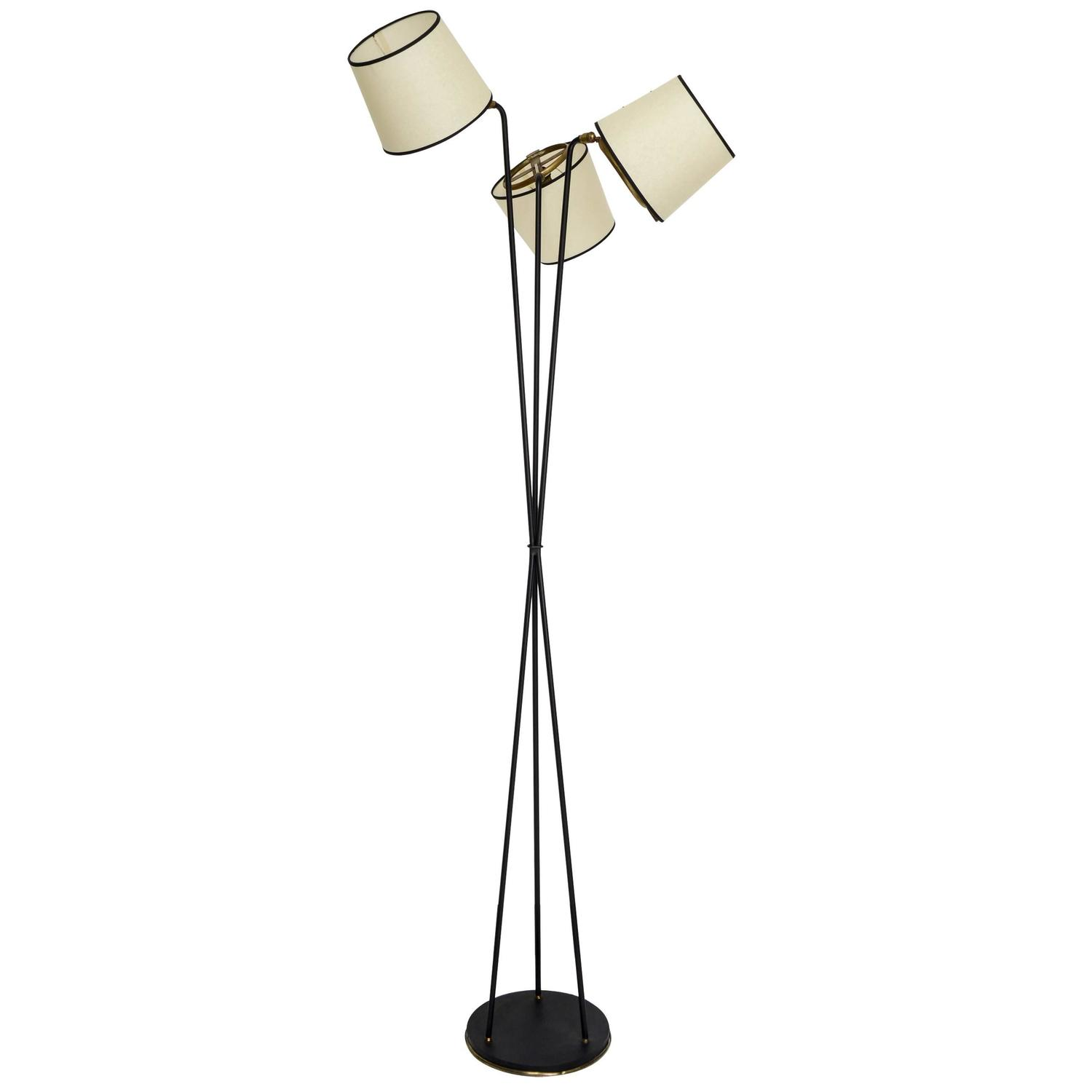 floor lamp by lunel circa 1950 for sale at 1stdibs. Black Bedroom Furniture Sets. Home Design Ideas