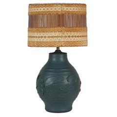 Bob Kinzie for Affiliated Craftsmen Hand Thrown Ceramic Lamp