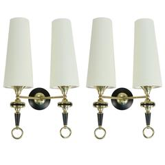 Pair of Large Sconces with Ring Maison Lunel 1950
