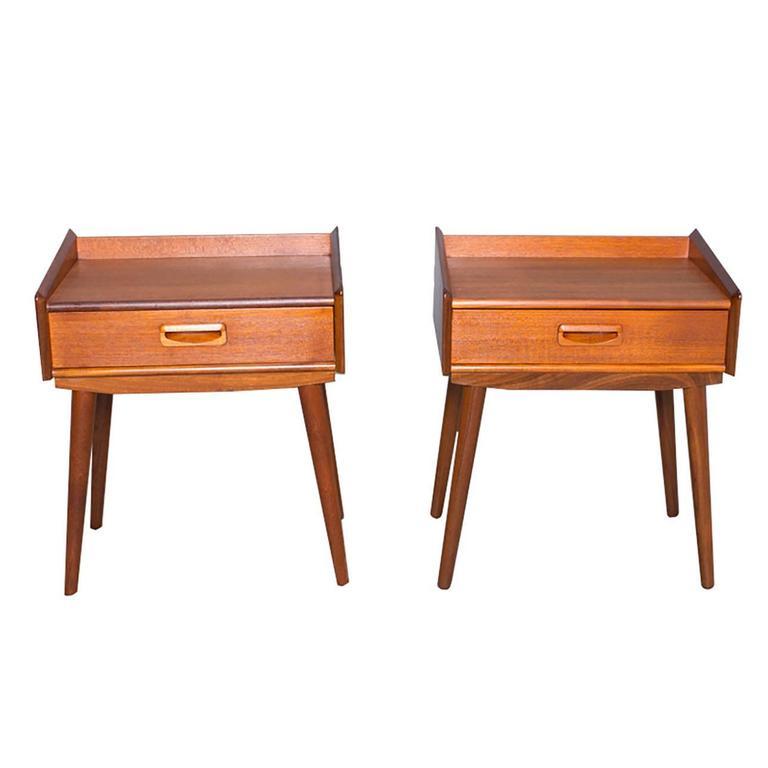 Danish teak nightstands at 1stdibs for Danish teak bedroom furniture