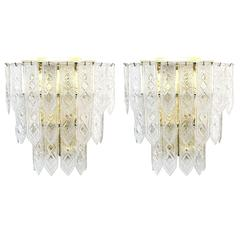 Pair of XL Venini Tiered Sconces