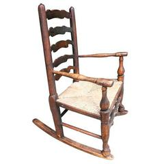 19th Century English Child's Rocking Chair