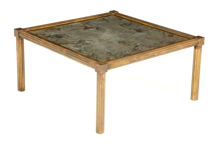 Unique urn motif laverne coffee table for sale at 1stdibs for Unusual cocktail tables