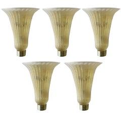 Five Gold Bell Sconces by Fabio Ltd