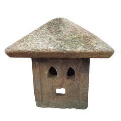"Japanese old stone garden lantern  ""firefly"""