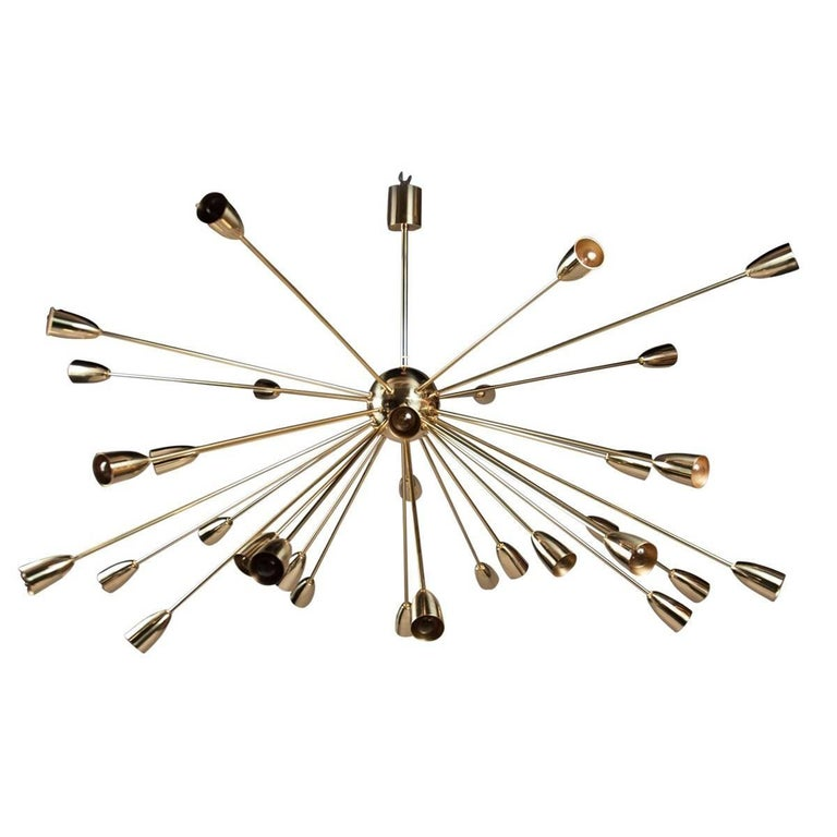 Sputnik Chandelier, Italy, 1950s For Sale