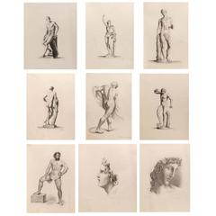 Classical Male Nude Drawings