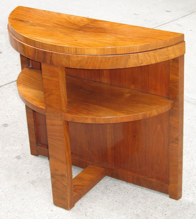Small Contemporary Foyer Tables : Small french mid century modern demilune console table for