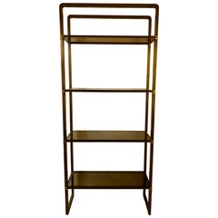 Paul M Jones Bronze and Glass Etagere