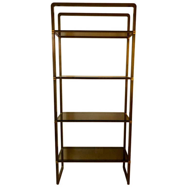 Paul M Jones Bronze and Glass Etagere For Sale