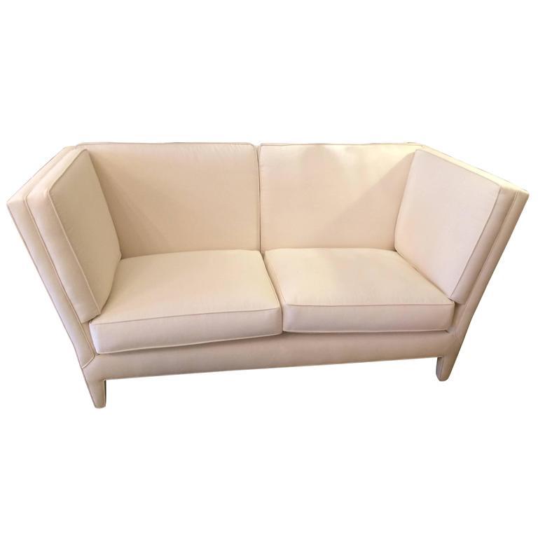 Sophisticated Angular Donghia Loveseat Sofa