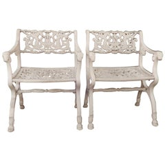 Vintage Schinkel Style Garden Chairs with Angels