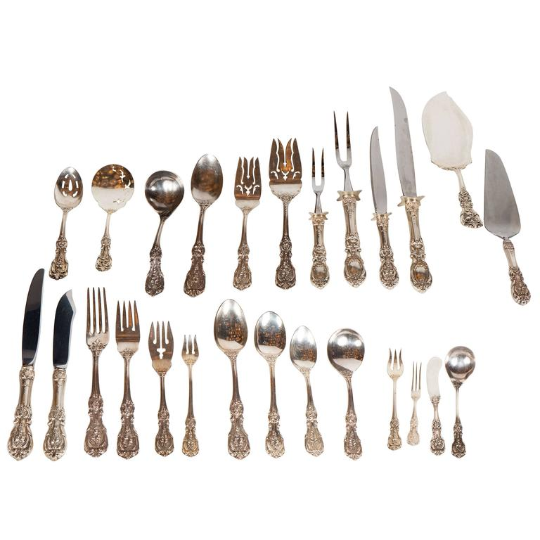 205 Piece Sterling Flatware Service Designed by Ernest Meyers for Reed & Barton 1