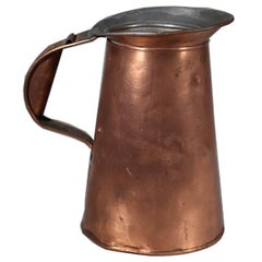 Vintage Copper Pitcher and Copper Tray