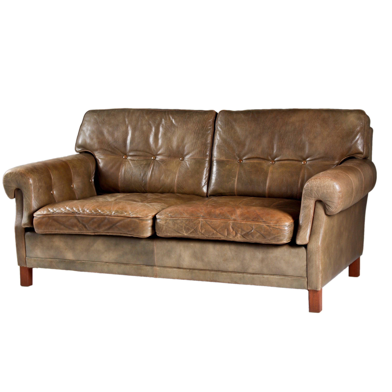 Leather Sofa by Ope Möbler, Sweden, 1960s For Sale at 1stdibs