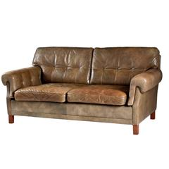 Leather Sofa by Ope Möbler, Sweden, 1960s