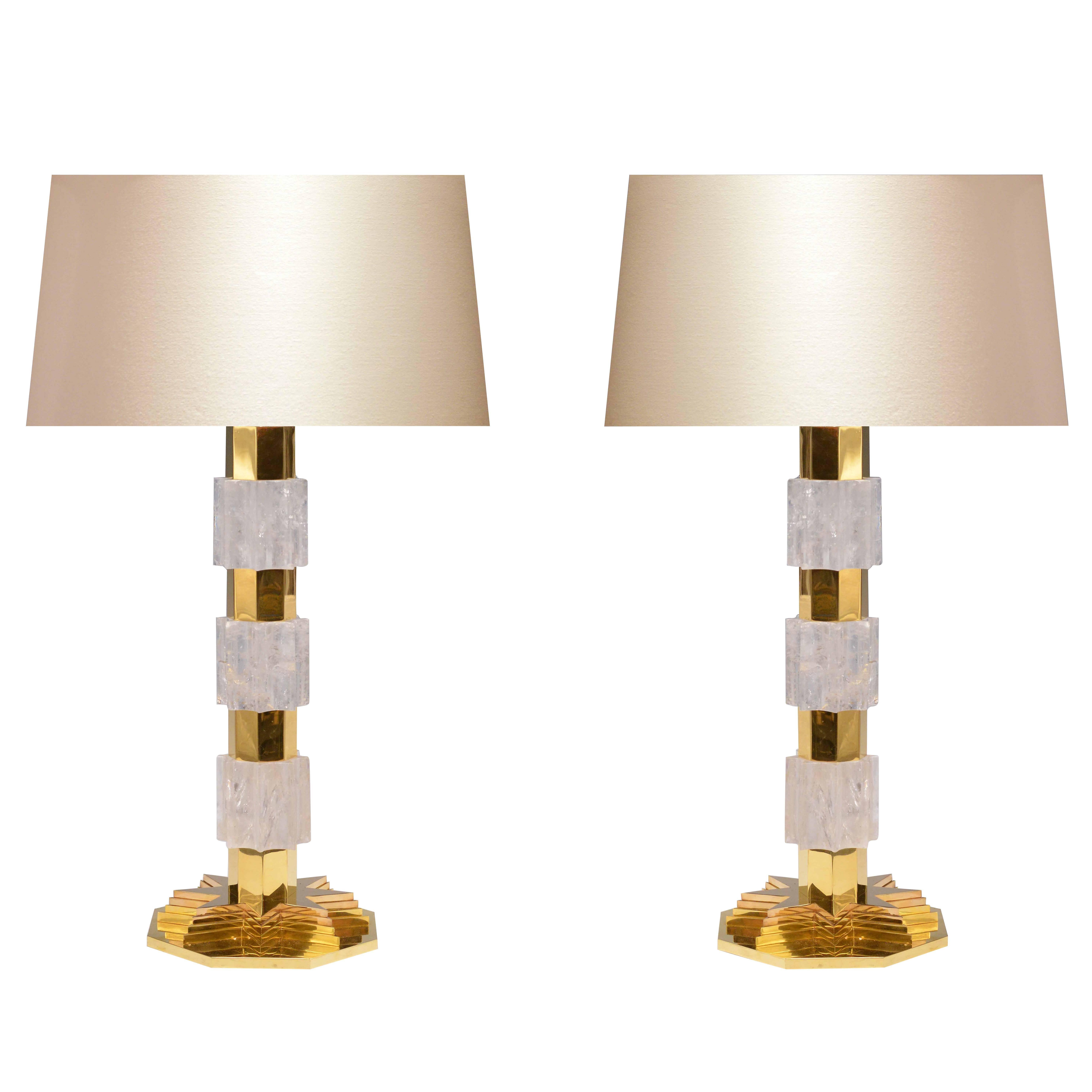 Metropolitan Rock Crystal Quartz Lamps