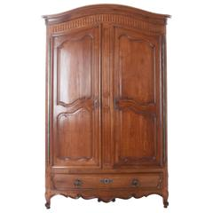 French 19th Century Cherry Armoire from Bordeaux