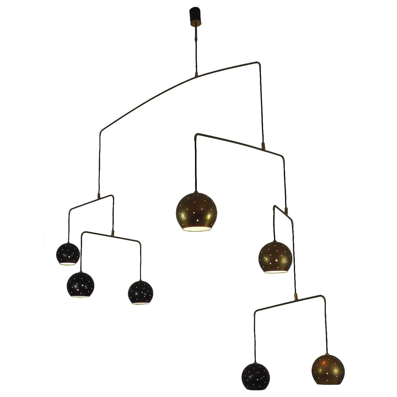 italian large poetic mobile chandelier  u0026quot magico e meditativo u0026quot  milano  xx c  for sale at 1stdibs