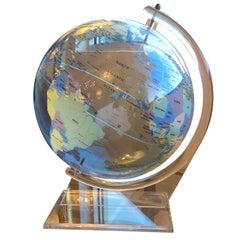 Mid-Century Modern Trippensee Planetarium Acrylic Spectrum Globe on Stand