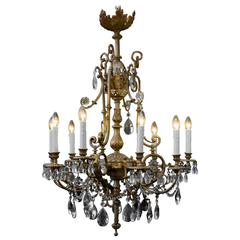 19th Century Neoclassic Gas Chandelier