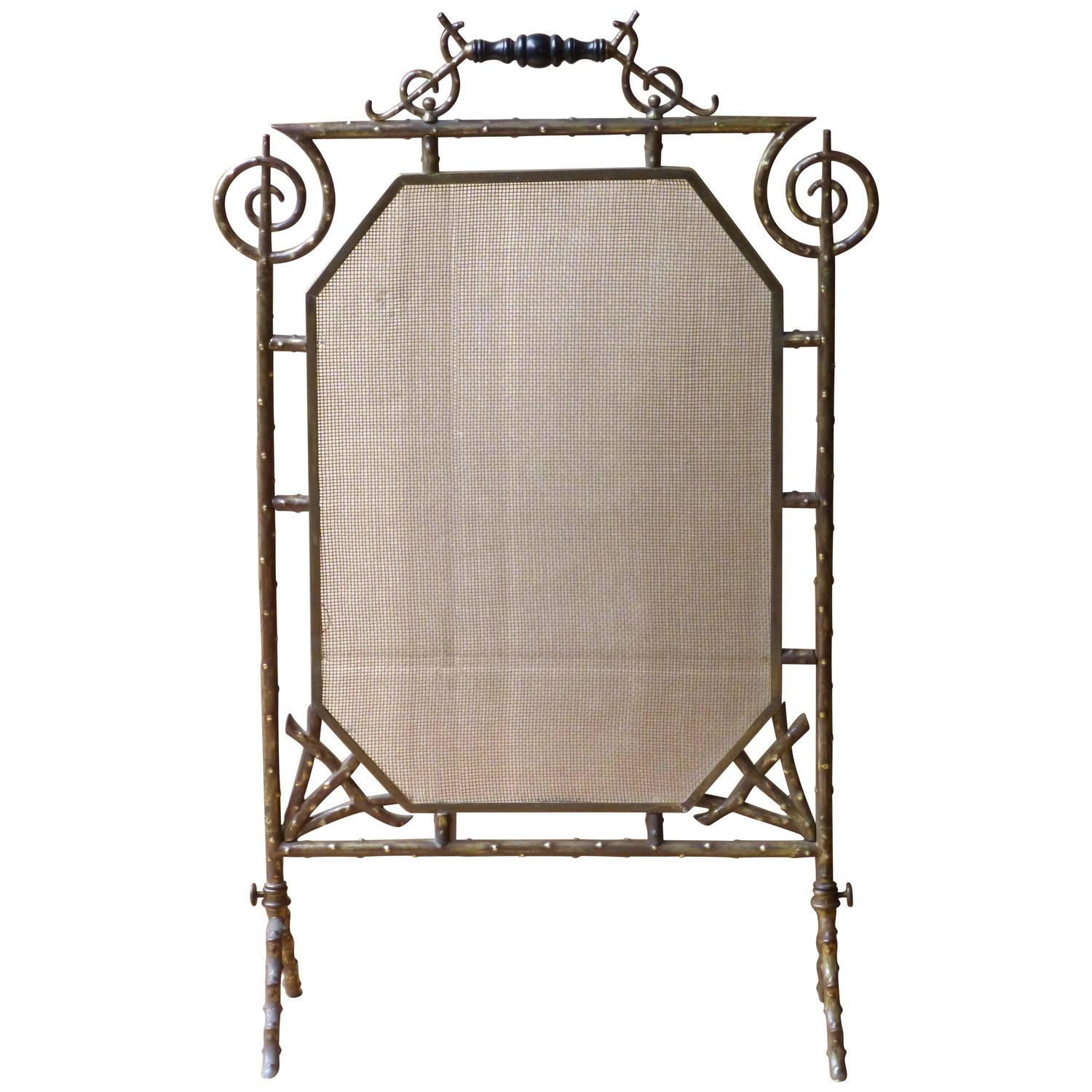 19th Century English Art Deco Fireplace Screen For Sale At 1stdibs