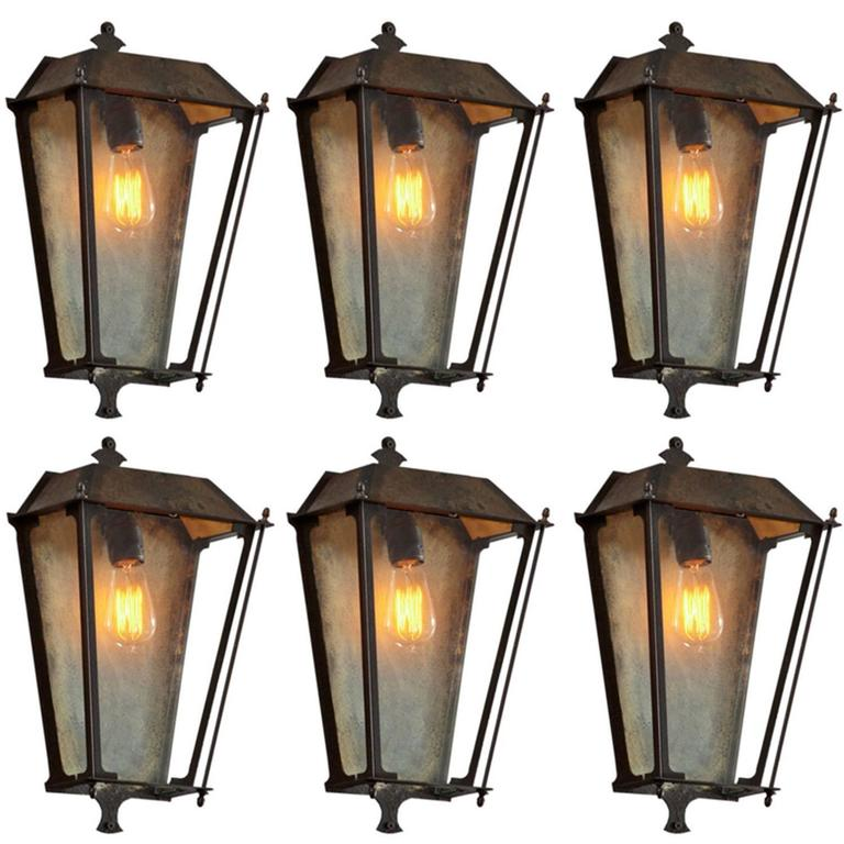 Outdoor Wall Lights Metal: Outdoor Metal Sconce For Sale At 1stdibs