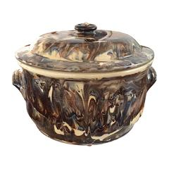 19th Century French Marbelized Casserole
