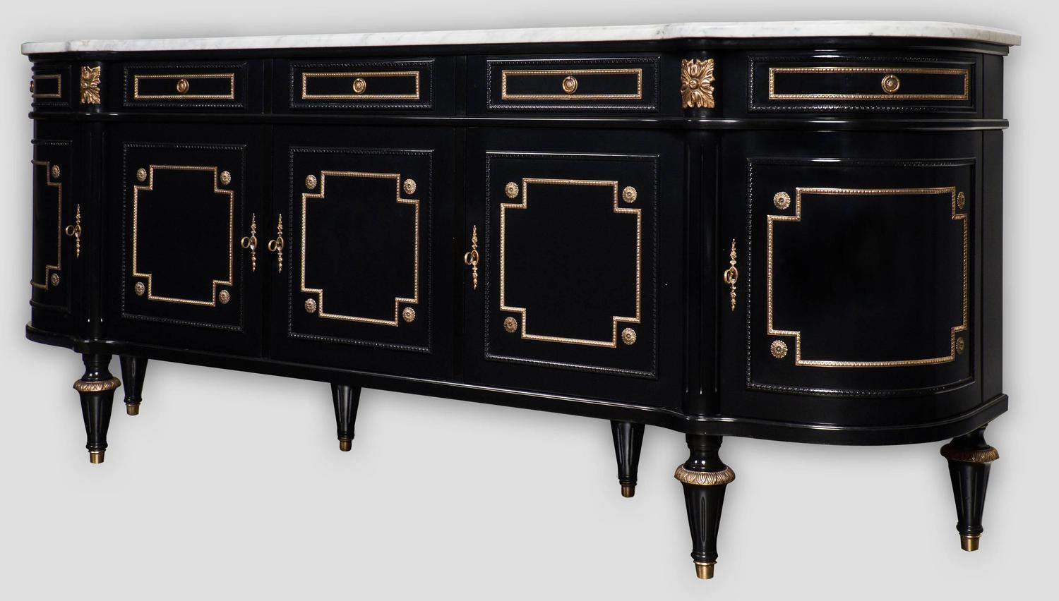 french antique louis xvi style grand buffet or enfilade at. Black Bedroom Furniture Sets. Home Design Ideas