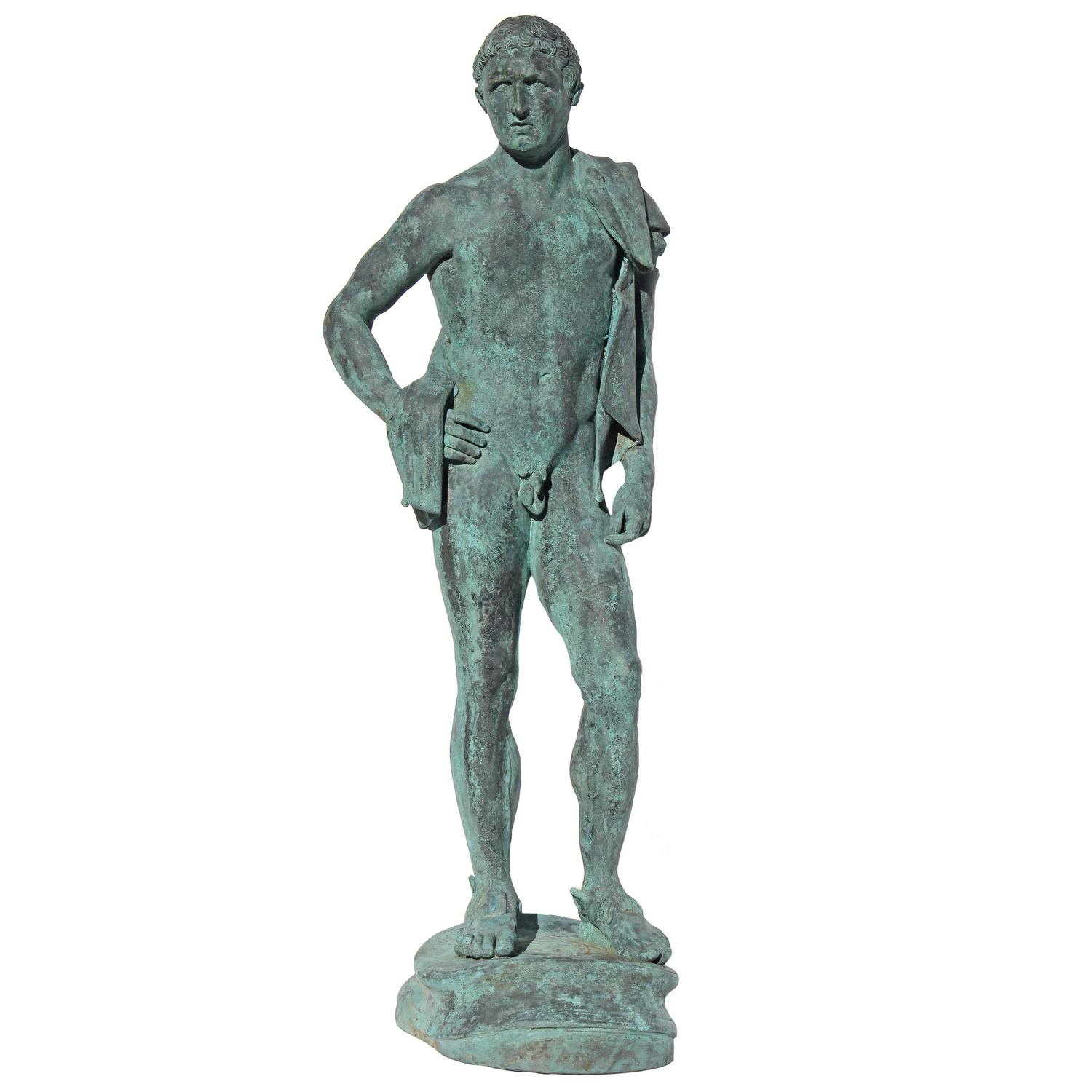 Large bronze sculpture of hermes for sale at 1stdibs - Bronze sculptures for sale ...