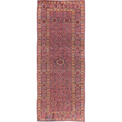 Antique Beshir Long Gallery Rug from Late 19th Century