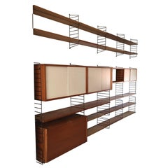 Large Mid-Century Shelving System by Nisse Strinning for String Design AB Sweden