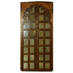 Mughal Carved Wood Doors, circa 19th Century