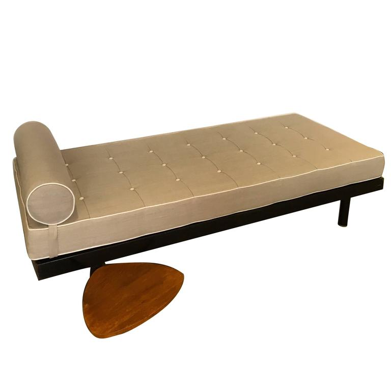 Jean Prouve, S.C.A.L. Daybed, Swivel Shelf by Charlotte Perriand France, 1952