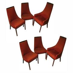 Set of Six Kipp Stewart Mid Century Modern Dining Room Chairs