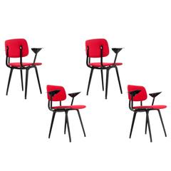 "1954 Friso Kramer ""Revolt"" Set of Four Chairs for Ahrend de Cirkel, Dutch Design"