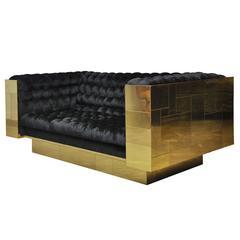 Paul Evans Brass Cityscape Sofa